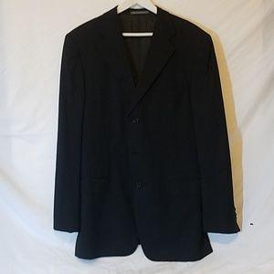 ERMENEGILDO ZEGNA Black Blazer 100% Wool, size 52